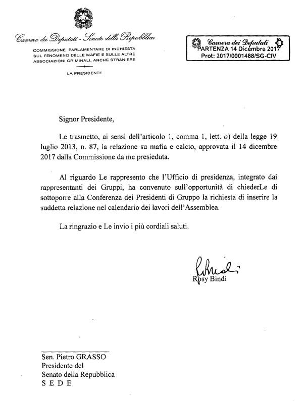 87834968e0 Comunicata alle Presidenze il 14 dicembre 2017 ai sensi dell'articolo 1,  comma 1, lett. o) della legge 19 luglio 2013, n.
