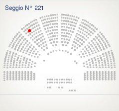 dove siede il deputato